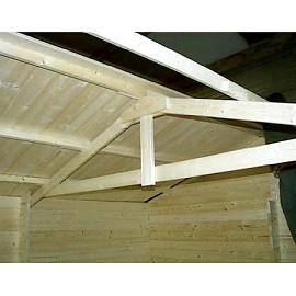 abri de jardin bois forvik 22 44 m ep 44 mm plantes et. Black Bedroom Furniture Sets. Home Design Ideas