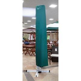 parasol carr excentr en aluminium 3x3 m avec chemin e housse de protection dream garden. Black Bedroom Furniture Sets. Home Design Ideas