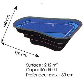 Bassin préformé 500L Oase  178x126x56cm  Desjardins