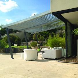 tonnelle de jardin adoss e 4x4m boston luxe lame. Black Bedroom Furniture Sets. Home Design Ideas