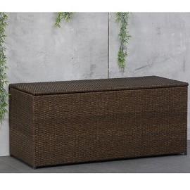 coffre coussins 470 l r sine tress e marron plantes et. Black Bedroom Furniture Sets. Home Design Ideas