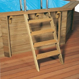 piscine bois octo pro cerland x 4m margelle composite gris plantes et jardins. Black Bedroom Furniture Sets. Home Design Ideas
