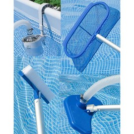 Kit piscine aspect bois sequoia intex krystal clear for Aspirateur pour piscine intex
