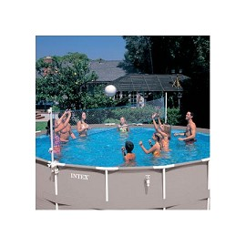 Kit piscine tubulaire ultra silver intex l 5 49 m x l 2 74 - Filet volley piscine ...