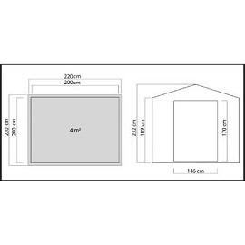 Abri de jardin 4 m2 foug re bois massif 28 mm sans for Cabane jardin 4m2