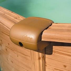 Kit piscine san marina acier aspect bois 350 x h 120cm for Piscine acier couleur bois