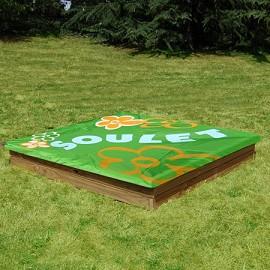 bac sable en bois carr 1 60 x 1 60 m avec son couvercle maxisand soulet plantes et jardins. Black Bedroom Furniture Sets. Home Design Ideas