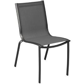 Salon de jardin table malaga grise 4 chaises linea for Chaise grise salon