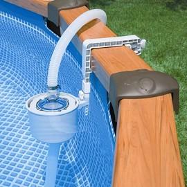 Kit piscine aspect bois sequoia intex d 5 08 m x h 1 24 for Kit filtre piscine