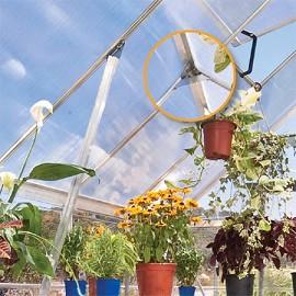 serre de jardin essence 8 88 m hors tout polycarbonate double paroi embase plantes et jardins. Black Bedroom Furniture Sets. Home Design Ideas