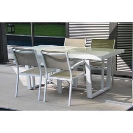 Table Loft Pour 4 Personnes 180 Cm En Aluminium Plateau