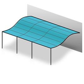 toile universelle 200 gr m pour tonnelle adoss e 3x3 m cru plantes et jardins. Black Bedroom Furniture Sets. Home Design Ideas