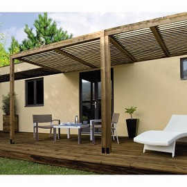 pergola bois adoss e pergola bois ados e sur enperdresonlapin. Black Bedroom Furniture Sets. Home Design Ideas