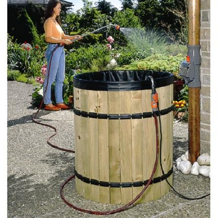 Collecteur d'eau de pluie avec filtre Gardena