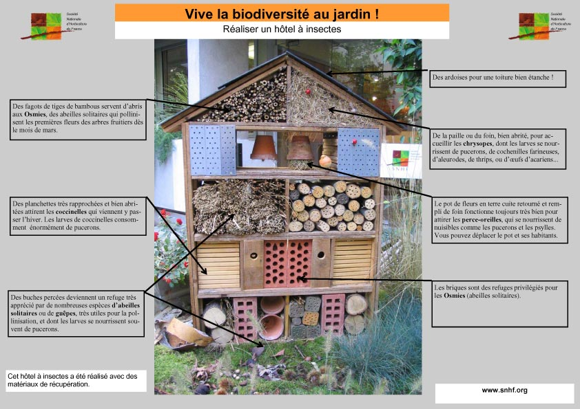 h tel insectes on pinterest insect hotel bug hotel and insects. Black Bedroom Furniture Sets. Home Design Ideas