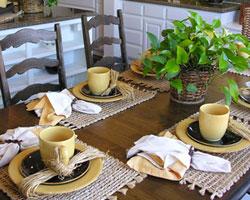 Plantes d'intérieur dans le salon et la salle à manger