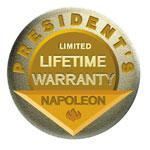 Label Garantie à vie des Barbecues Napoleon