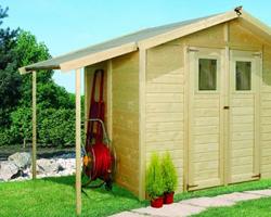 Abri de jardin 6 m2 Multimax avec remise et appentis