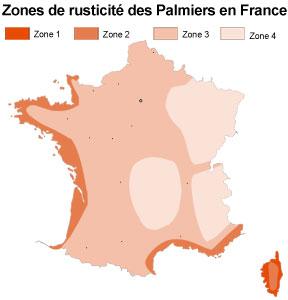 Les différentes zones de rusticité en France