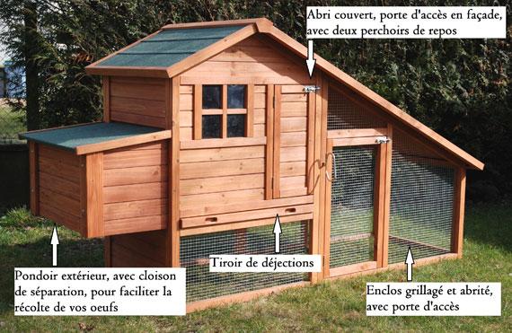 choisir l 39 habitat des poules poulailler et parcours gamm vert. Black Bedroom Furniture Sets. Home Design Ideas