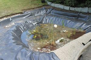 Installer une b che pour bassin gamm vert for Bache pour bassin a poisson exterieur