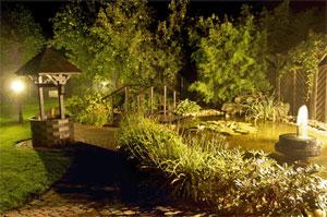 Eclairez le bassin la nuit