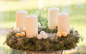 Des bougies pour décorer la table