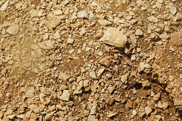 Les terres calcaires sont claires