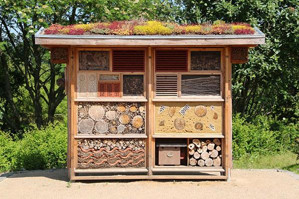 Les hôtels à insectes sont des abris pour les insectes auxiliaires du jardinier