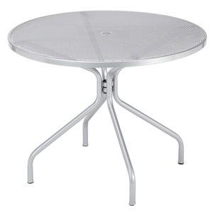 Table de jardin Emu Cambi acier Ø120 cm argent