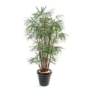 Palmier Raphis Lady 150 cm(Tronc naturel, feuillage artificiel) + pot classique ()