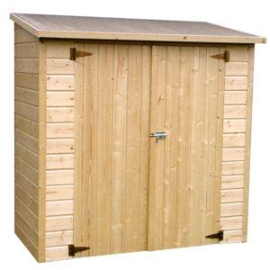 Remise adossée bois PEFC L170 H180 cm – 1.66 m² – Décor et Jardin