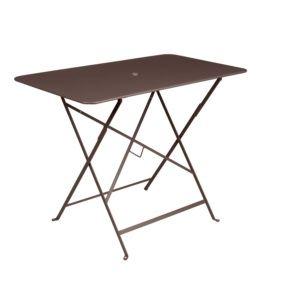Table pliante Fermob Bistro l97 L57 cm acier rouille