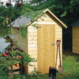Pose d 39 une dalle de b ton pour abri de jardin le - Construction d un abris de jardin en bois ...