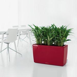 Jardinière Lechuza Cararo Premium L75 H43 cm rouge. PLANTES ET JARDIN – Jardinerie en ligne