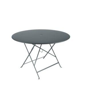 Table pliante Fermob Bistro acier Ø117cm gris orage
