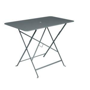 Table pliante Fermob Bistro l97 L57 cm acier gris orage