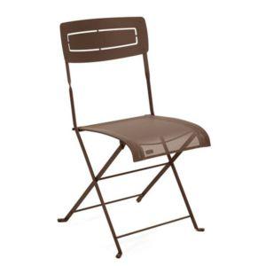 Chaise pliante Fermob Slim acier/textilène rouille