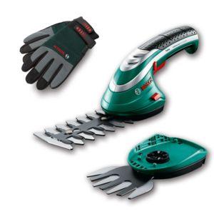 Cisaille sans fil ISIO Set 2 lames + gants – Bosch