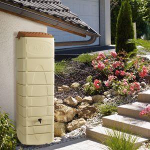 Récupérateur d'eau mural 650 litres beige - BelliJardin