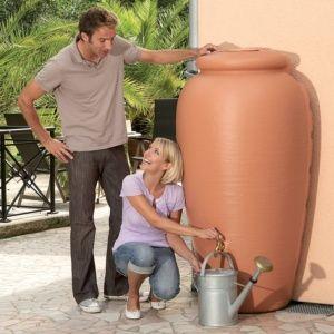 Récupérateur d'eau Amphore murale 350L terracotta – Garantia