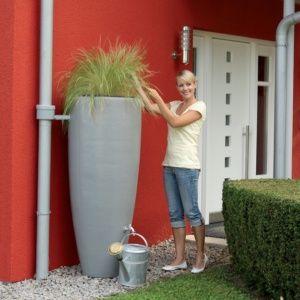 Récupérateur d'eau 2 en 1 avec bac à plantes 300 litres Garantia