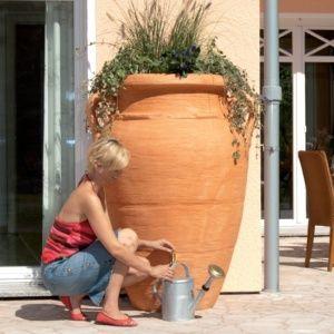 Récupérateur d'eau Amphore Antik Terracotta, 600 litres, Garantia