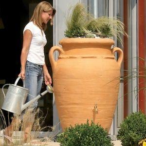 Récupérateur d'eau Amphore Antik Sable, 200 litres Garantia