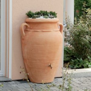 Récupérateur d'eau mural Amphore Antik 260 litres, terracotta