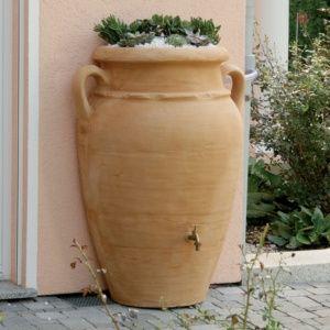 Récupérateur d'eau mural Amphore Antik 260 litres, sable, Garantia