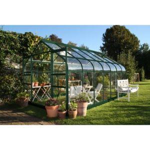 Serre de jardin Supreme en verre trempé 11.4m² Halls Eden Greenhouses
