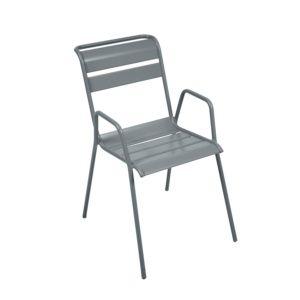 Chaise empilable Fermob Monceau acier gris orage