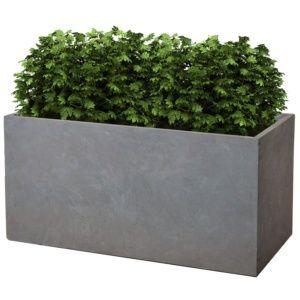 Bac à fleurs fibre de terre Clayfibre L100 H45 cm gris