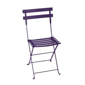 Chaise pliante Fermob Bistro acier aubergine